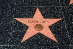 Muestra del bulevar de Elton John Hollywood imagen de archivo