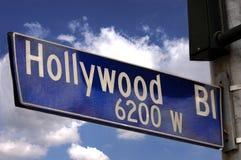 Muestra del bulevar de Hollywood foto de archivo libre de regalías