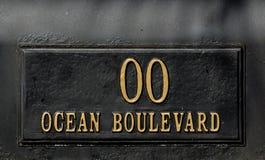 Muestra del bulevar del océano Foto de archivo libre de regalías