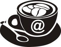 Muestra del café de Internet Fotografía de archivo libre de regalías