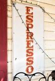 Muestra del café express imagenes de archivo
