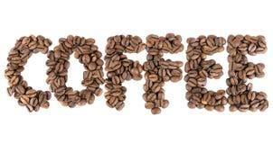 Muestra del café hecha de los granos de café imagen de archivo libre de regalías