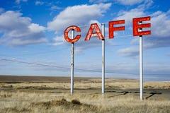 Muestra del café del borde de la carretera Imágenes de archivo libres de regalías