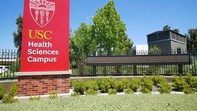 Muestra del campus de las ciencias de la salud de la Universidad de California del Sur almacen de video