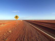 Muestra del canguro a lo largo de la carretera de Estuardo Fotografía de archivo libre de regalías