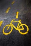 Muestra del carril de bicicleta Fotos de archivo