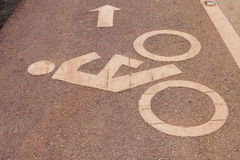 Muestra del carril de bicicleta Fotografía de archivo