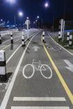 Muestra del carril de bicicleta Foto de archivo libre de regalías