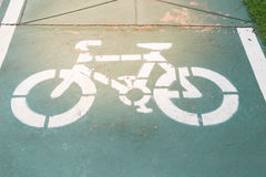 Muestra del carril de bicicleta Imagenes de archivo