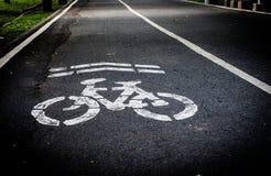 Muestra del carril de la bici Foto de archivo
