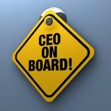 Muestra del CEO a bordo ilustración del vector