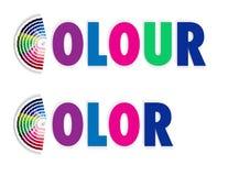 Muestra del color o del color del ventilador Foto de archivo libre de regalías