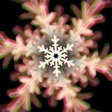 Muestra del copo de nieve de la Navidad con aberraciones Fotos de archivo libres de regalías