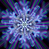 Muestra del copo de nieve de la Navidad con aberraciones Imagen de archivo libre de regalías