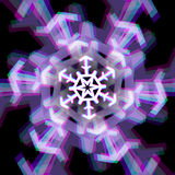 Muestra del copo de nieve de la Navidad con aberraciones Foto de archivo libre de regalías