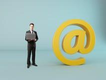 Muestra del correo Imagen de archivo libre de regalías