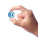 Muestra del correo electrónico Foto de archivo libre de regalías
