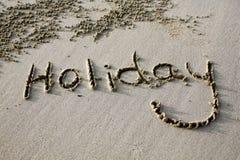 Muestra del día de fiesta de la playa Foto de archivo libre de regalías