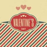 Muestra del día de tarjeta del día de San Valentín Fotos de archivo libres de regalías