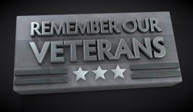 Muestra del día de veterano Imagenes de archivo