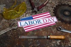 Muestra del Día del Trabajo Imágenes de archivo libres de regalías