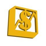 Muestra del dólar Fotografía de archivo libre de regalías