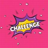 Muestra del desafío del vector Burbuja cómica del discurso del arte pop con la competencia del texto de la expresión Chapoteo din stock de ilustración
