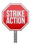 Muestra del ejemplo de la acción de huelga Foto de archivo