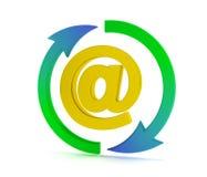 Muestra del email Foto de archivo libre de regalías
