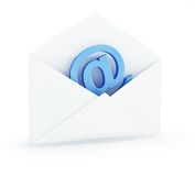 Muestra del email del correo Fotos de archivo