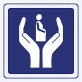 Muestra del embarazo Fotos de archivo libres de regalías