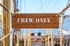 Muestra del equipo solamente en una nave fotografía de archivo libre de regalías