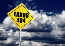 Muestra del error 404 Fotos de archivo libres de regalías