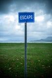 Muestra del escape Imágenes de archivo libres de regalías