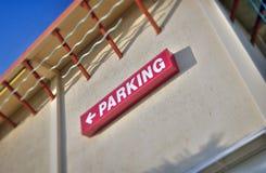 Muestra del estacionamiento Imagen de archivo