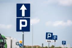 Muestra del estacionamiento Imagen de archivo libre de regalías
