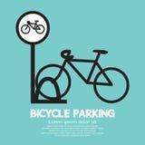 Muestra del estacionamiento de la bicicleta Imagenes de archivo