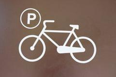 Muestra del estacionamiento de la bicicleta Fotos de archivo libres de regalías