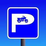 Muestra del estacionamiento de la moto Fotos de archivo libres de regalías
