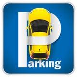 Muestra del estacionamiento del coche Fotografía de archivo libre de regalías