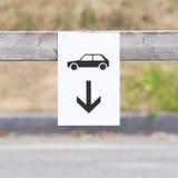 Muestra del estacionamiento del coche Foto de archivo libre de regalías