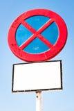 Muestra del estacionamiento prohibido Fotografía de archivo libre de regalías