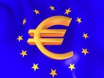 Muestra del euro en indicador europeo libre illustration
