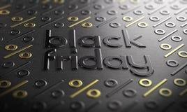 Muestra del evento de Black Friday Imagenes de archivo