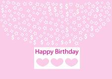 Muestra del feliz cumpleaños Fotos de archivo libres de regalías