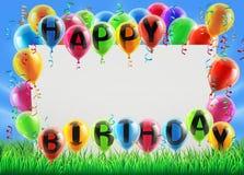 Muestra del feliz cumpleaños Imagenes de archivo