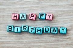 Muestra del feliz cumpleaños Foto de archivo