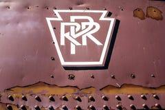 Muestra del ferrocarril Imágenes de archivo libres de regalías