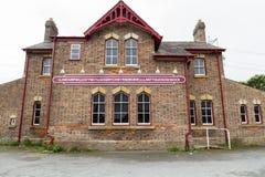 Muestra del ferrocarril de Llanfairpwllgwyngyll Fotografía de archivo libre de regalías