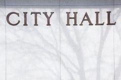 Muestra del fondo de ayuntamiento Fotografía de archivo